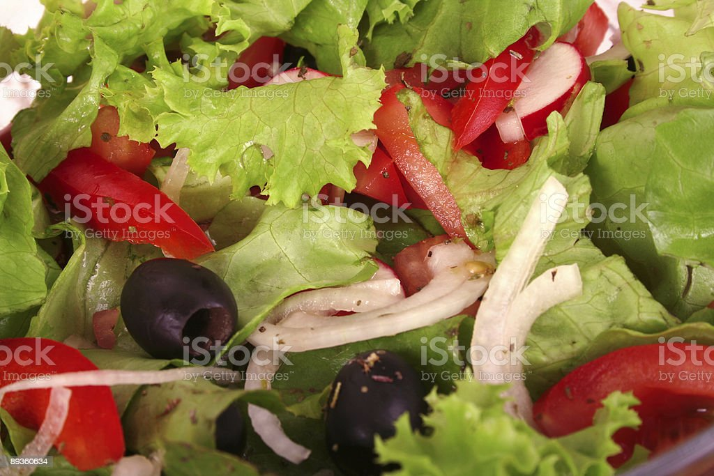 Delicious vegetable salad with tomato royalty-free stock photo