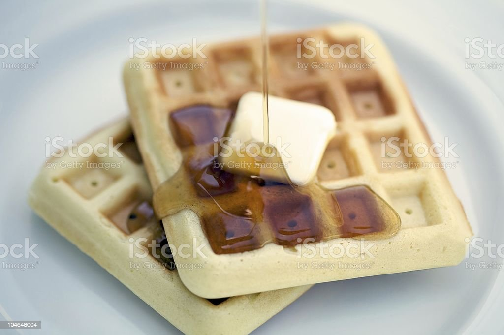 Delicious Waffles royalty-free stock photo