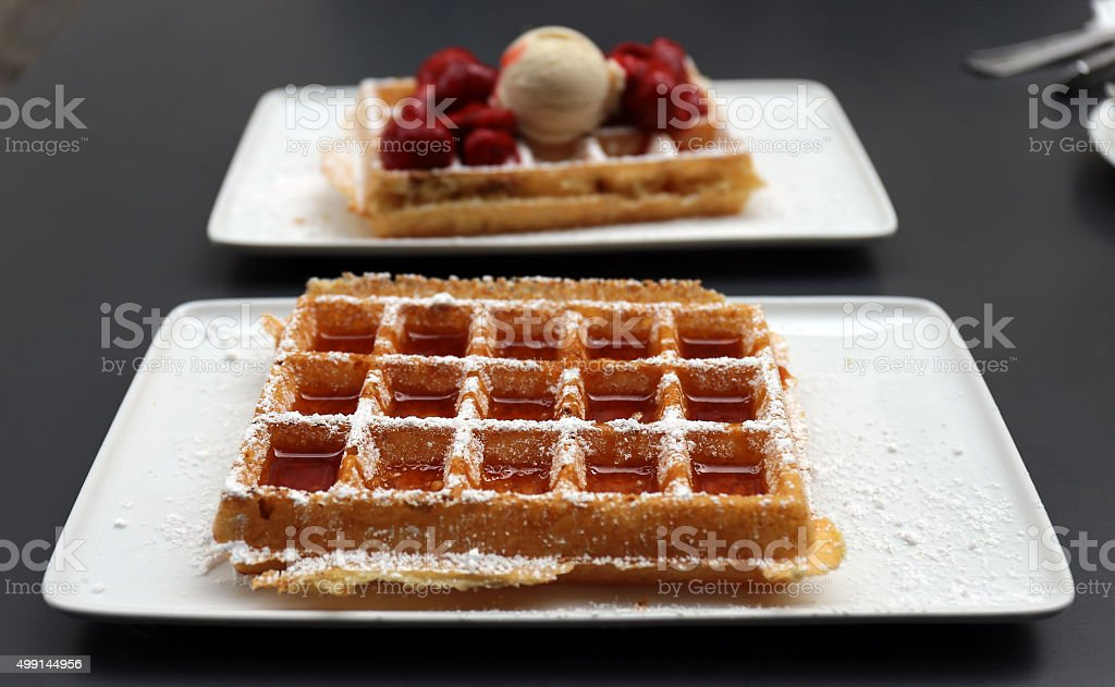 Delicious Waffles stock photo
