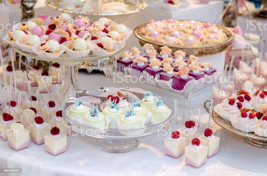 Delicious Wedding Reception Candy Bar Dessert Table Full With Panacota And Edible Silver Luxury Life