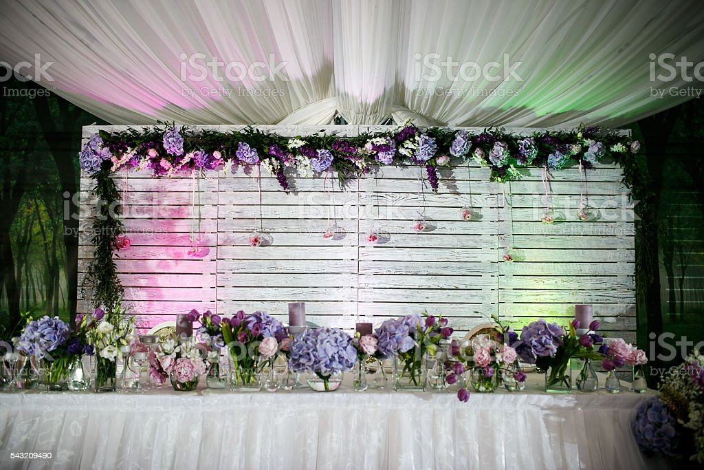 Delicious Wedding Reception Candy Bar Dessert Table Royalty Free Stock Photo
