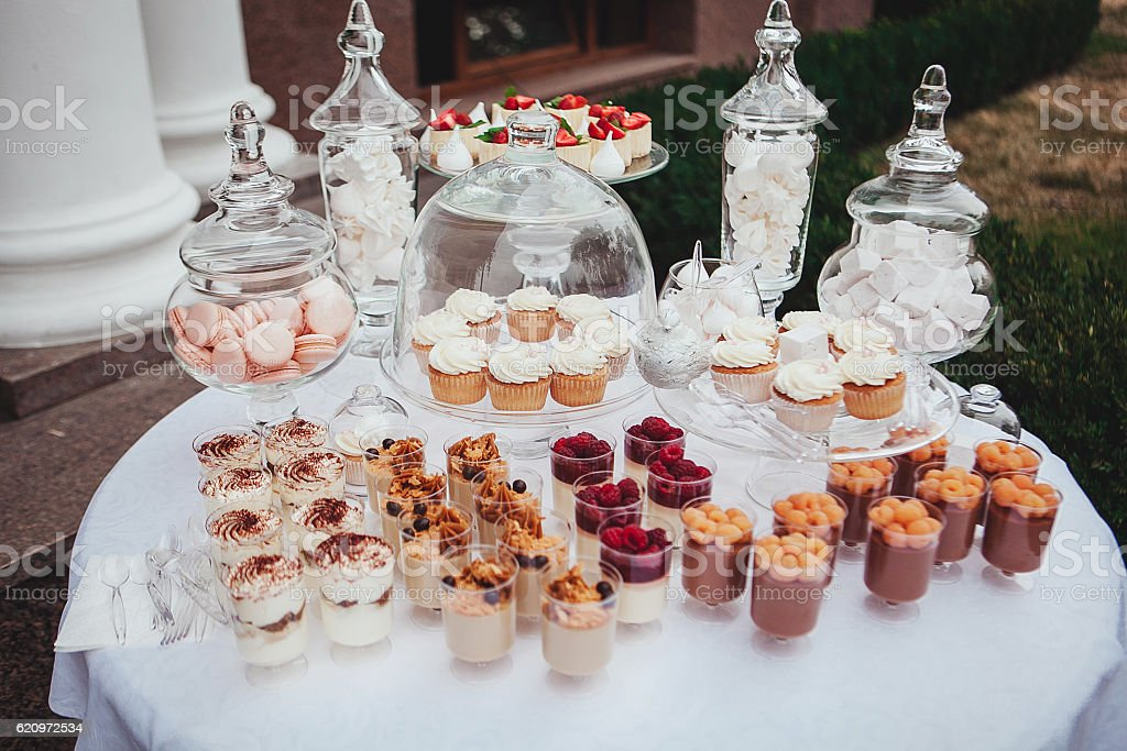 Delicious Wedding Reception Candy Bar Dessert Table Swetts Cupcakes ...