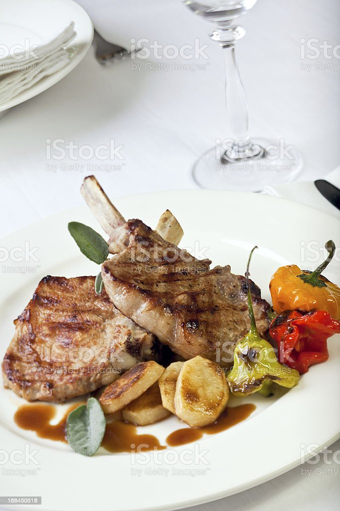 Delicius chops royalty-free stock photo