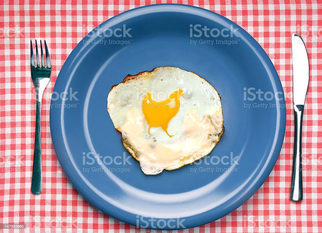delicous fried egg - with a twist    (© Lobke Peers) royalty-free stock photo