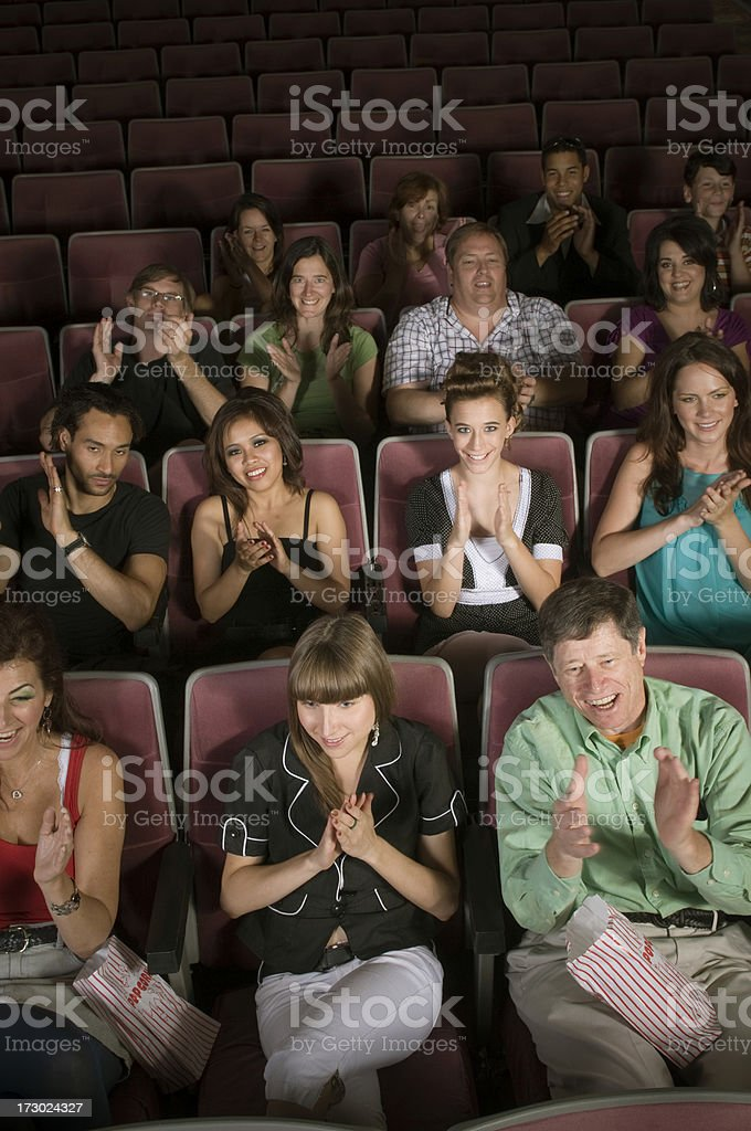 Delighted Audience royalty-free stock photo