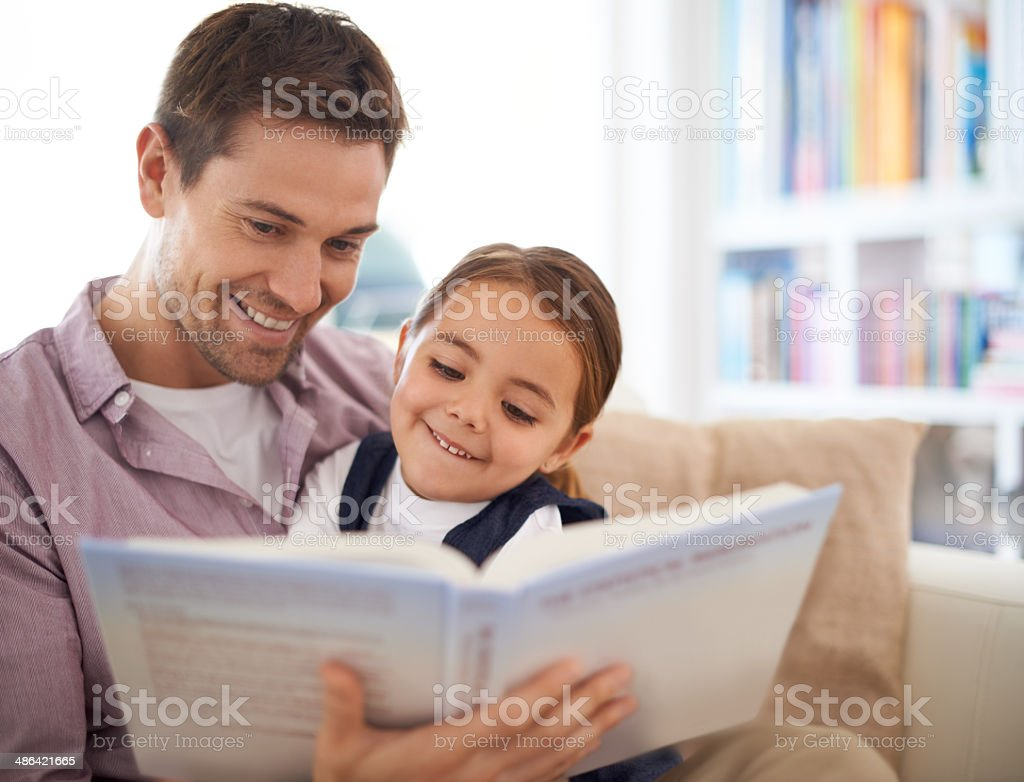 Delighted by the stories stock photo