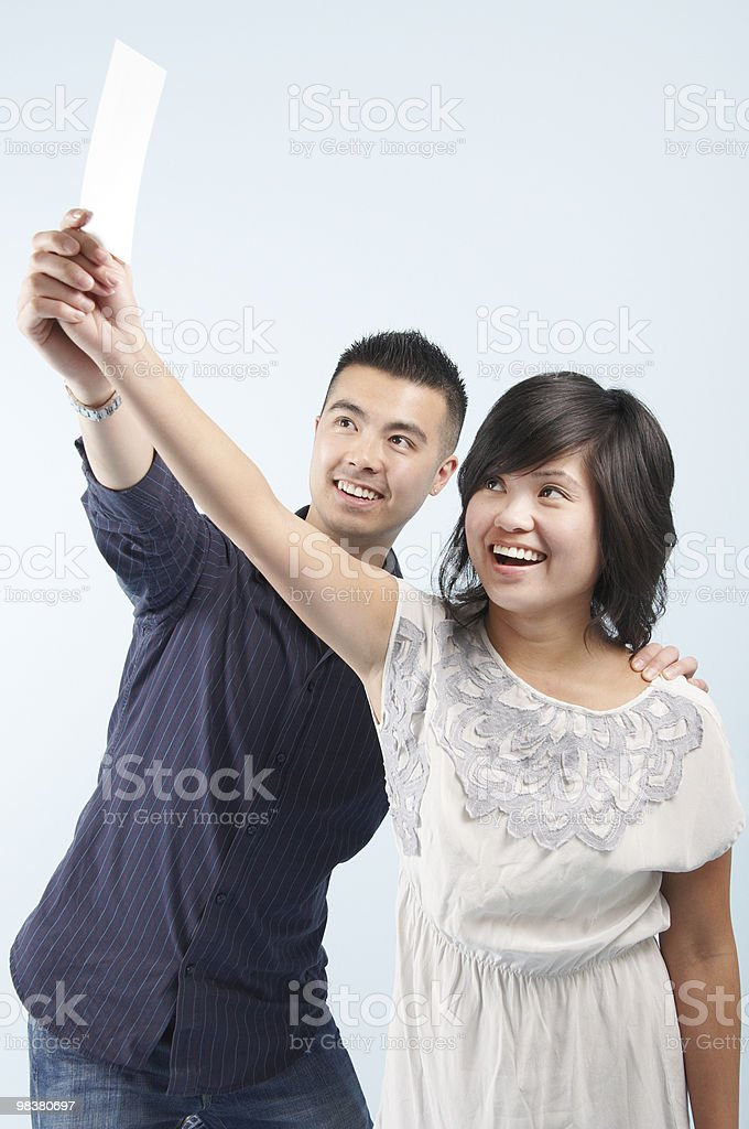 Delighted couple royalty-free stock photo