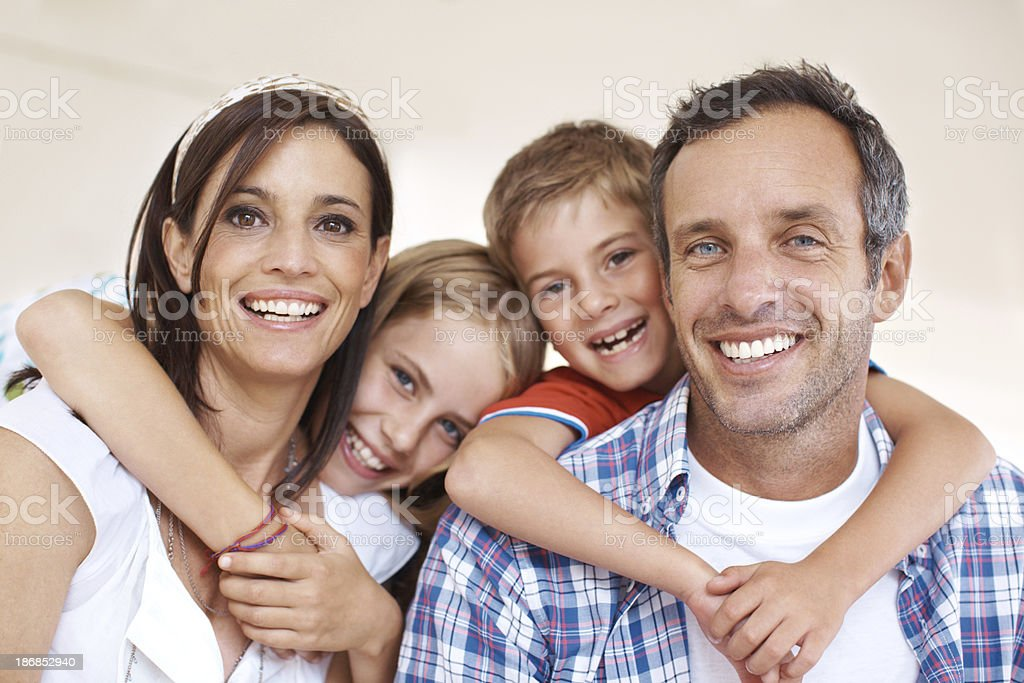 Delighted to spend time together royalty-free stock photo