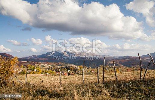 Delightful autumn on the high mountain