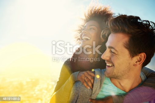 Shot of a young couple spending time together in the outdoors