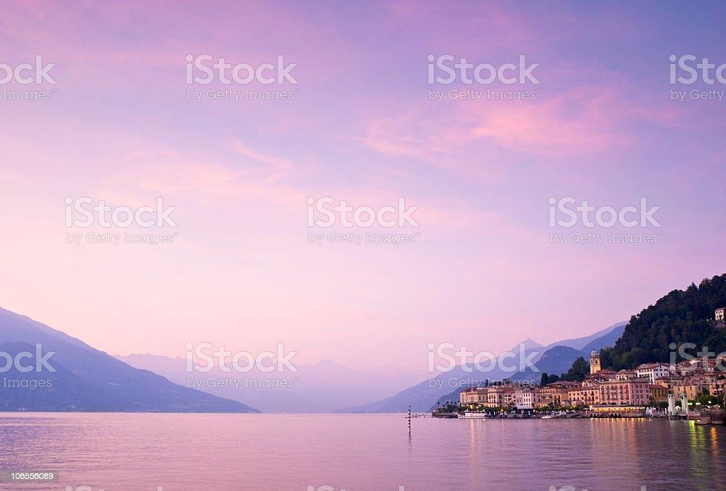 Delightful sunset along the coast stock photo