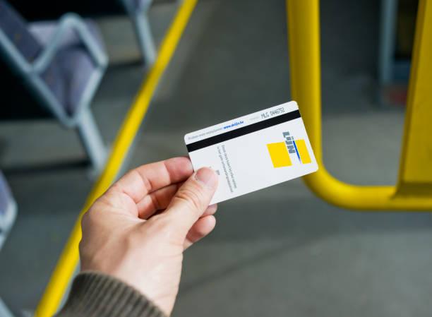 DeLijn Ticket, Belgium. stock photo