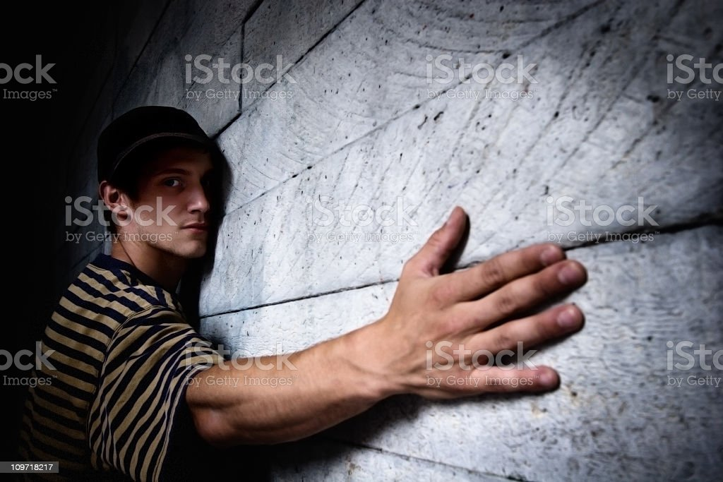 Delinquent arrested stock photo
