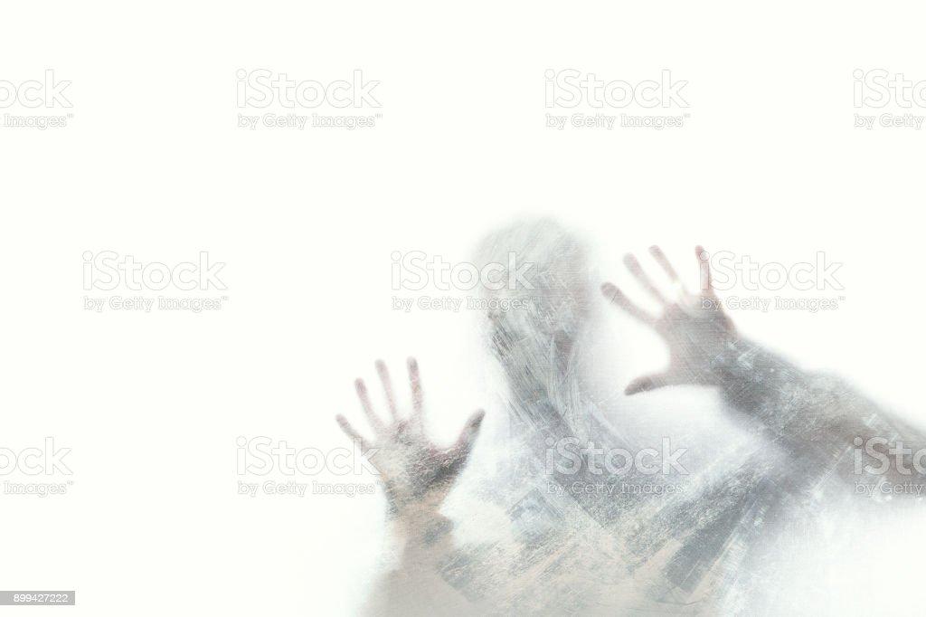 delirious man screaming abstract stock photo