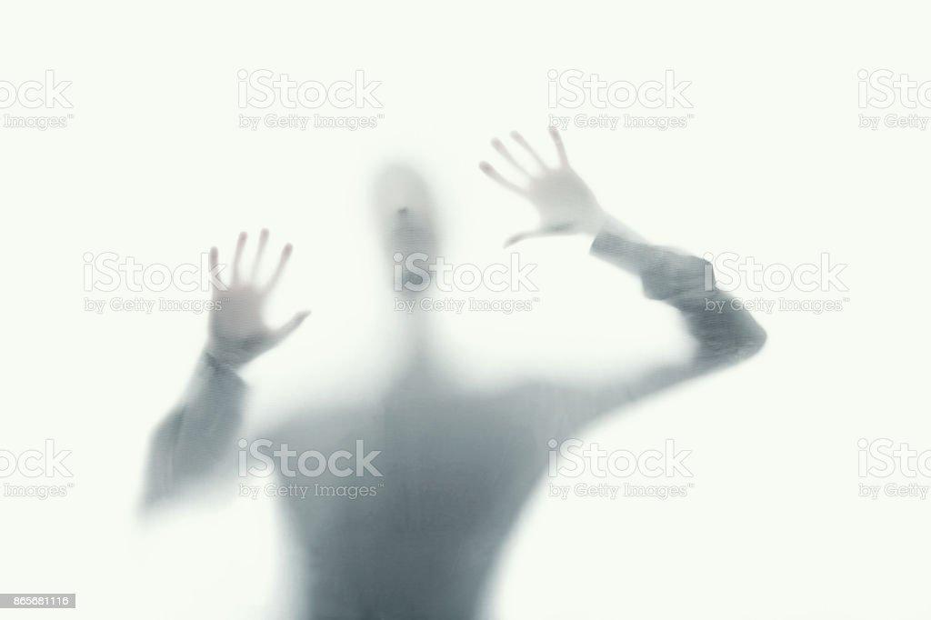 delirious psychopath mental care stock photo