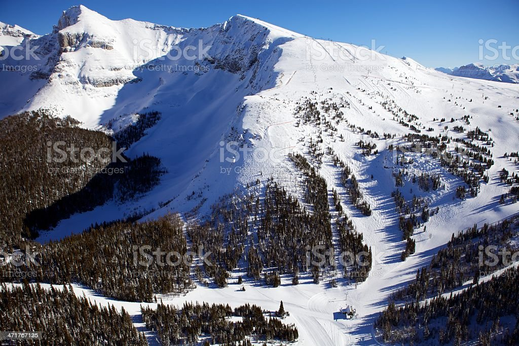 Delirium Dive Sunshine Village Ski Resort royalty-free stock photo