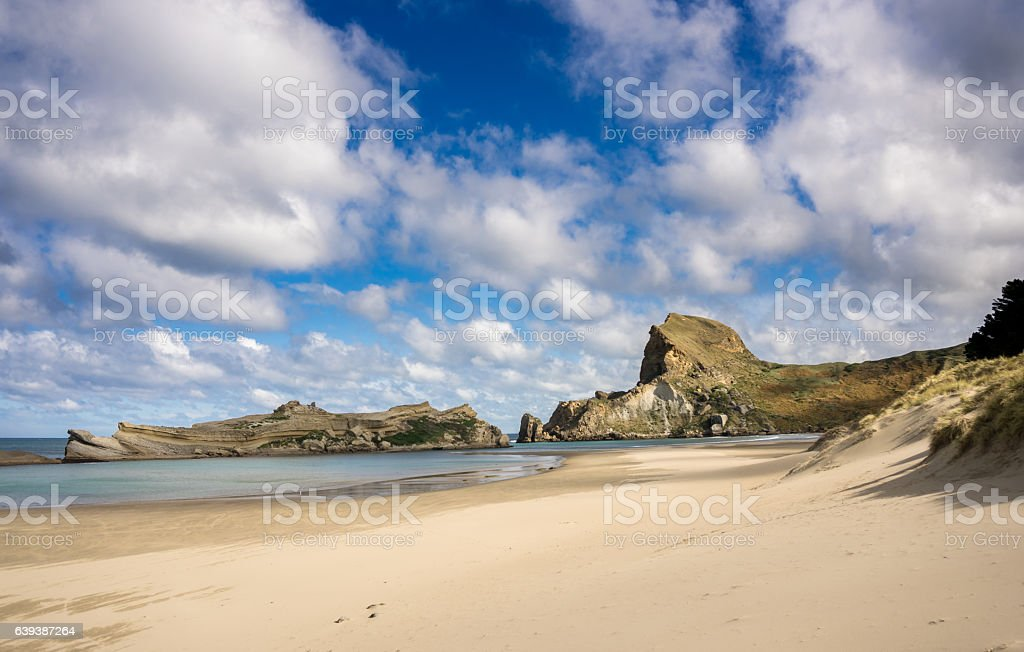 Deliverance Cove, Castlepoint, New Zealand stock photo