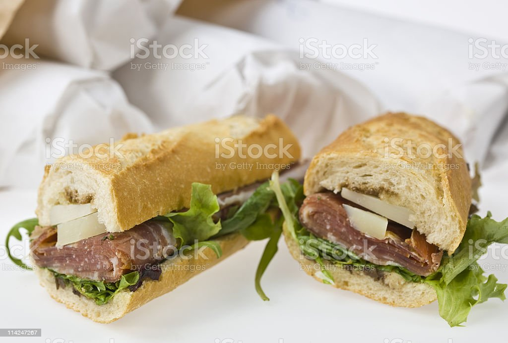 Delivered sandwich royalty-free stock photo