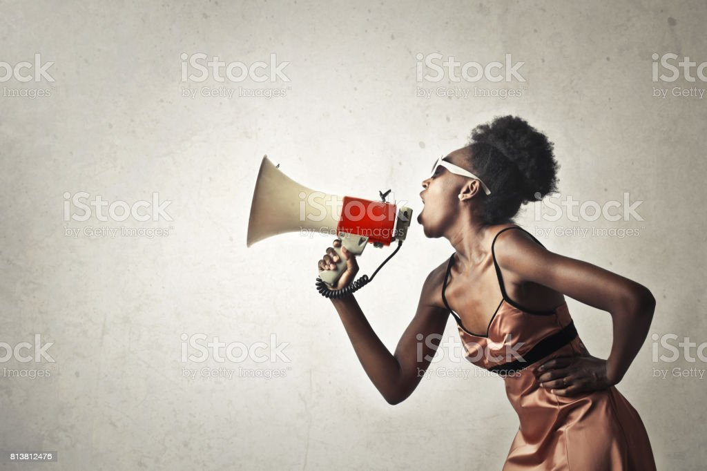 Delivering a message stock photo