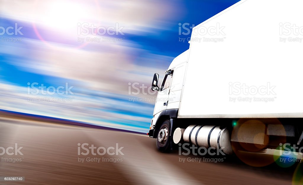 Delivering and logistic transport concept stock photo