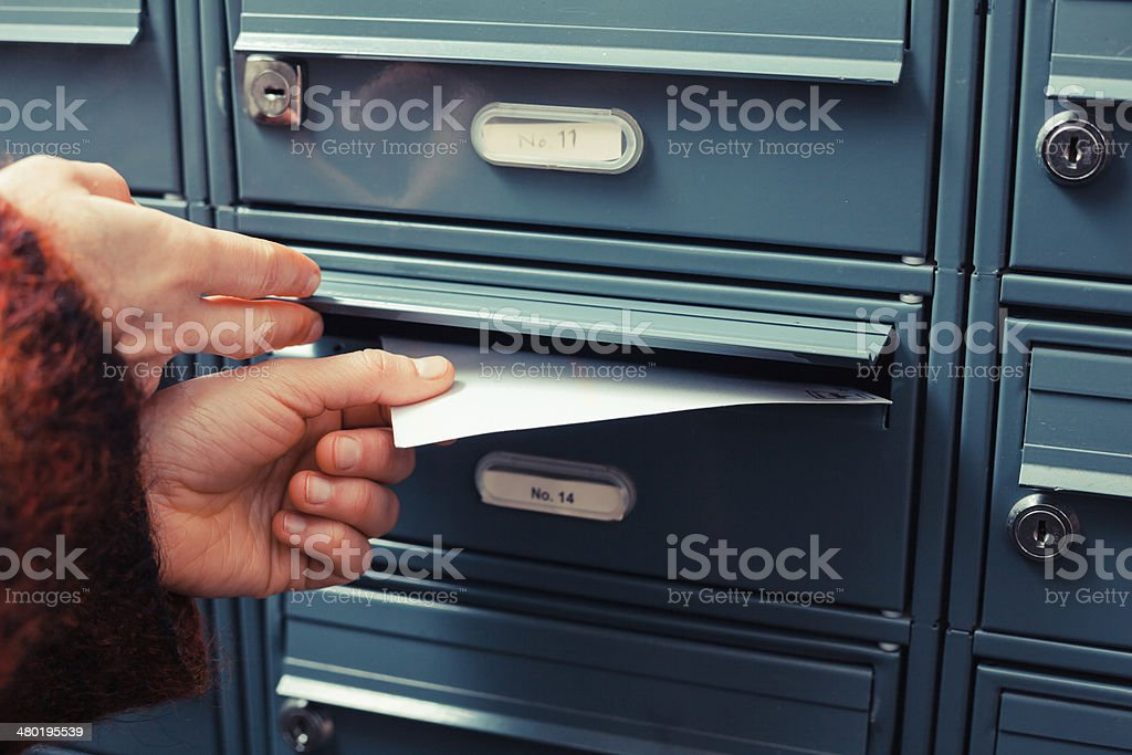Delivering letter stock photo
