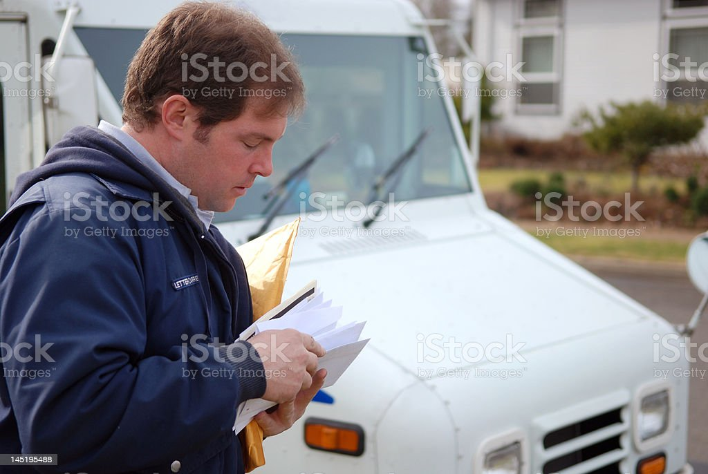 Delivering Mail royalty-free stock photo