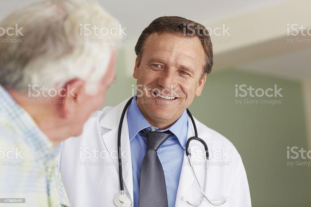 Liefern medizinischen Service mit einem Lächeln – Foto