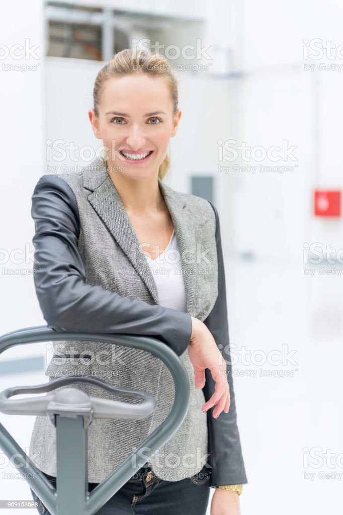 Delivering & pallet truck stock photo