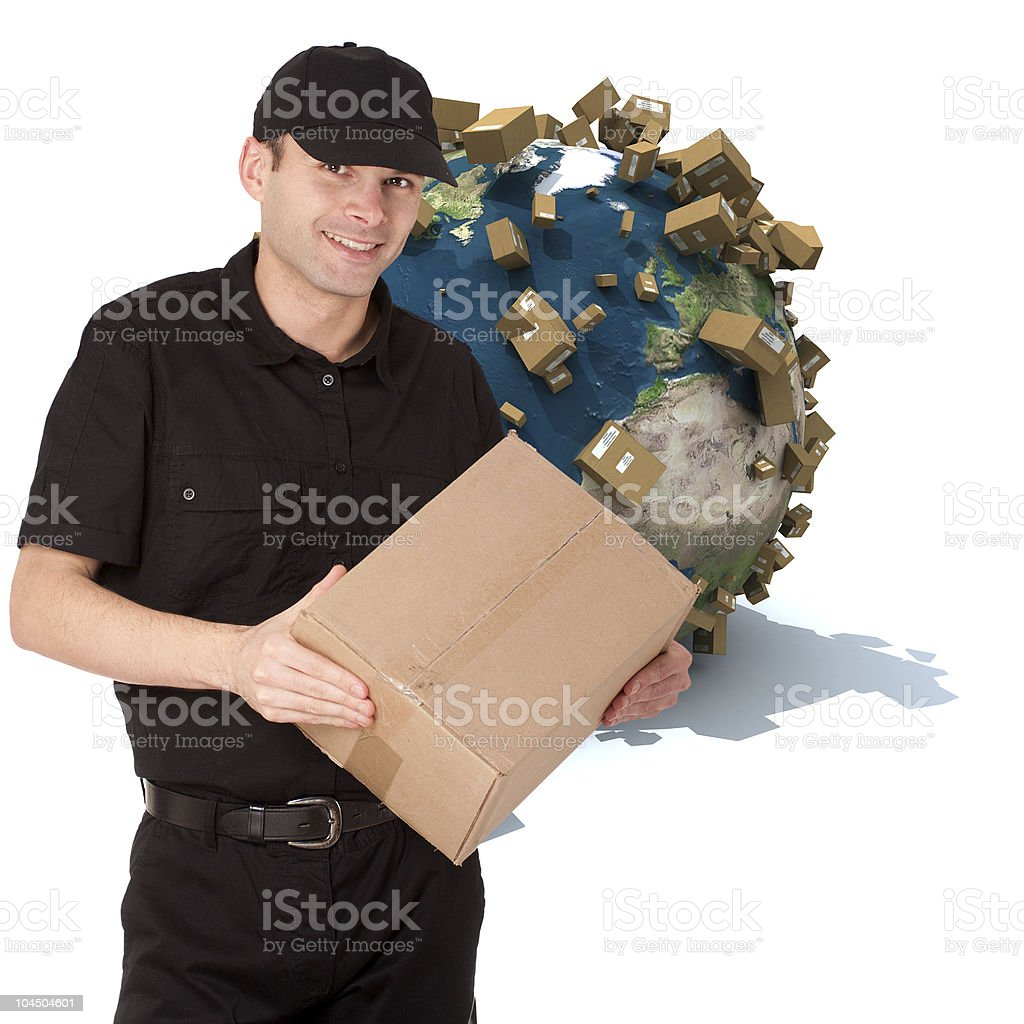Delivery anywhere royalty-free stock photo
