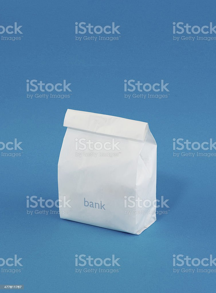 delivery bank bag royalty-free stock photo