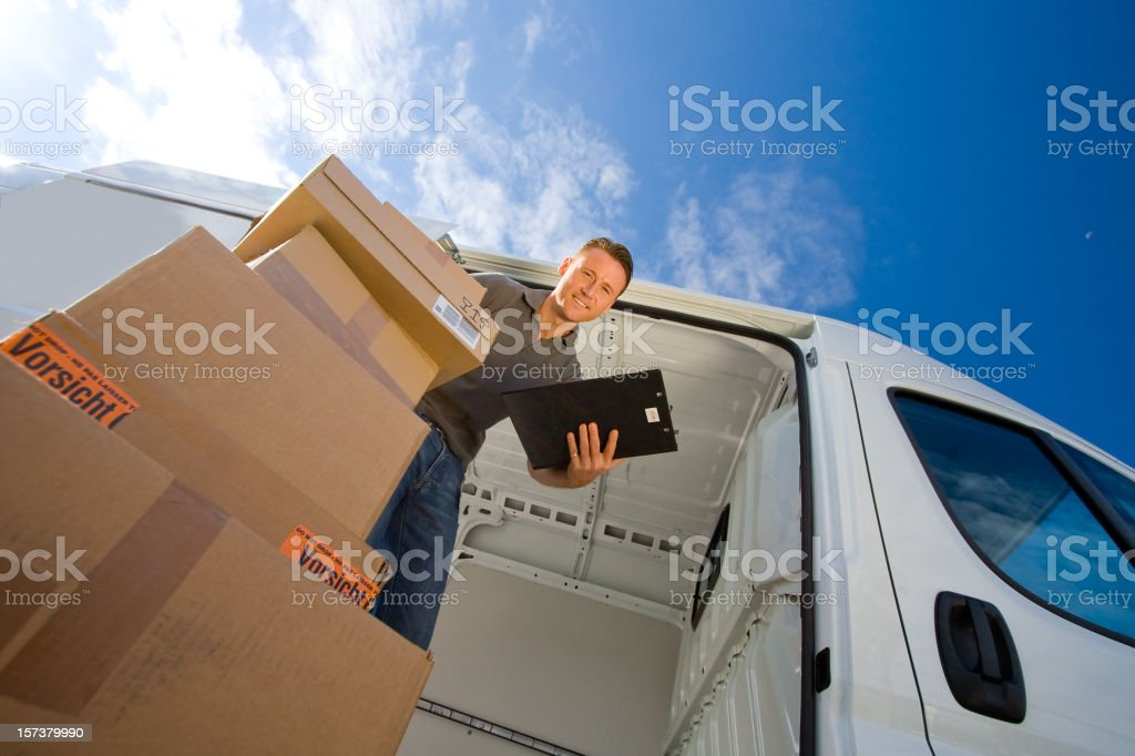 delivery boy series stock photo