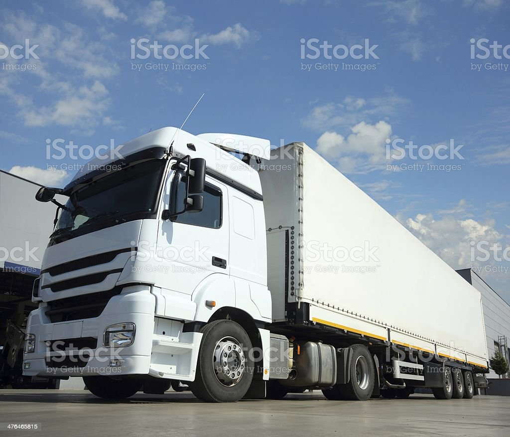 Delivery Cargo Truck royalty-free stock photo