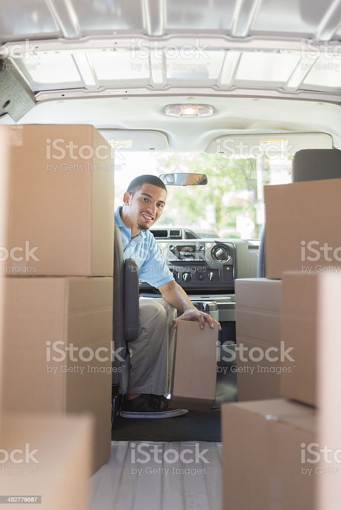 Delivery Driver royalty-free stock photo