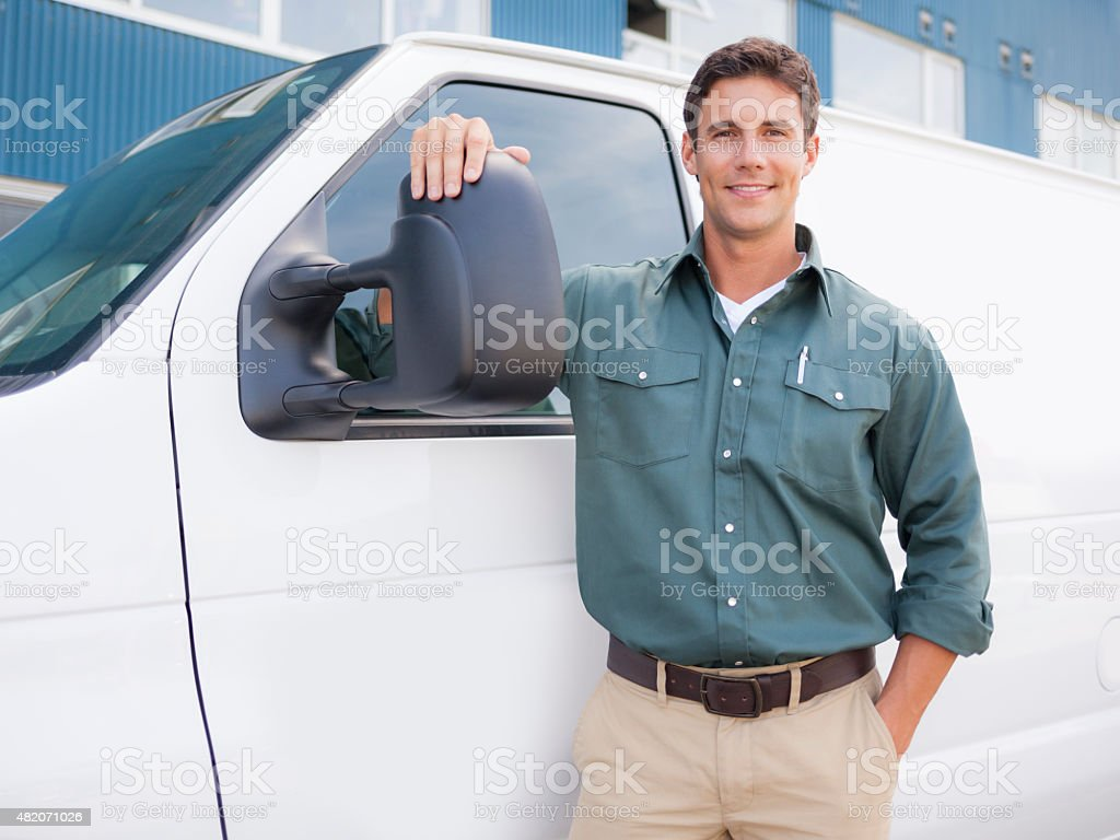 Delivery Driver stock photo