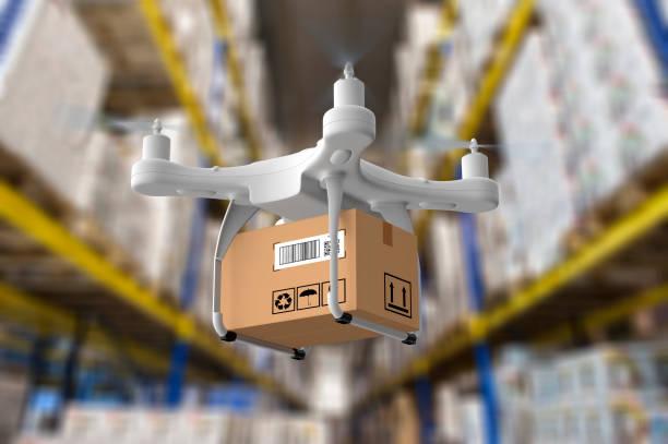 leverans drone i lager - delivery robot bildbanksfoton och bilder