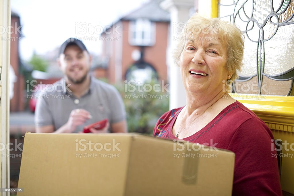 delivery for gran - Royalty-free 20-29 Years Stock Photo
