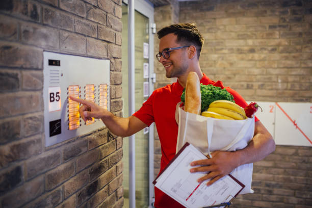 Delivery has arrived stock photo