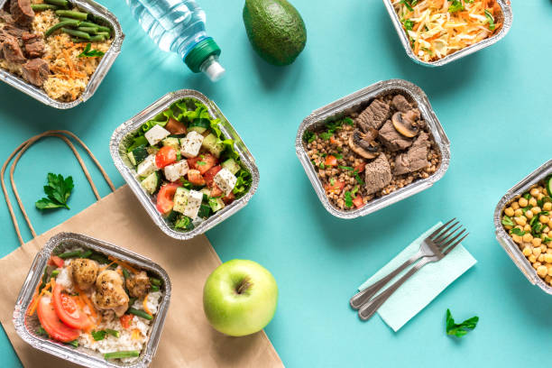 Delivery Healthy Food stock photo