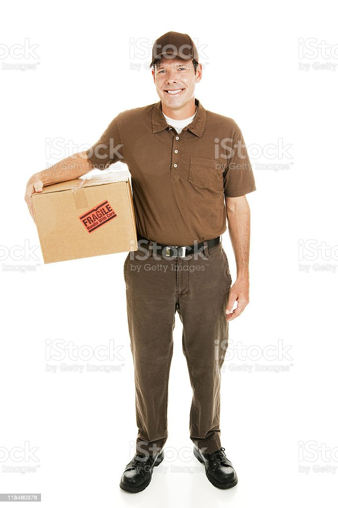 Delivery Man Full Body stock photo