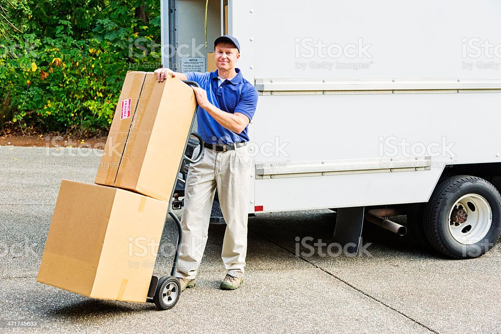 Delivery Man royalty-free stock photo