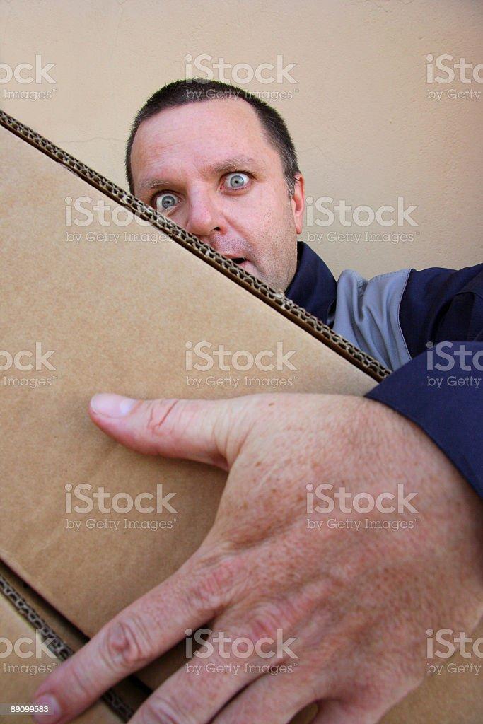 Lieferung Mann drei Lizenzfreies stock-foto