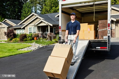 istock Delivery Man Unloading Truck 175198180