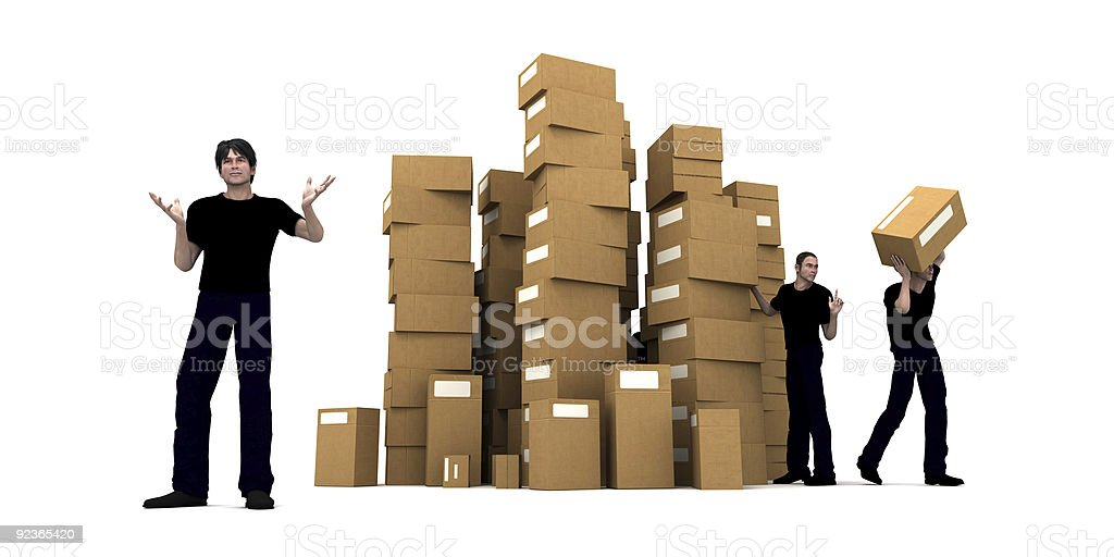 Delivery men stock photo