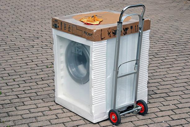 Lieferung neuen Waschmaschine – Foto