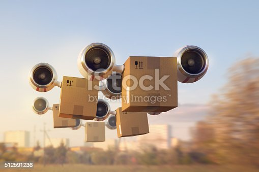 istock Delivery of a large number of goods by air 512591236