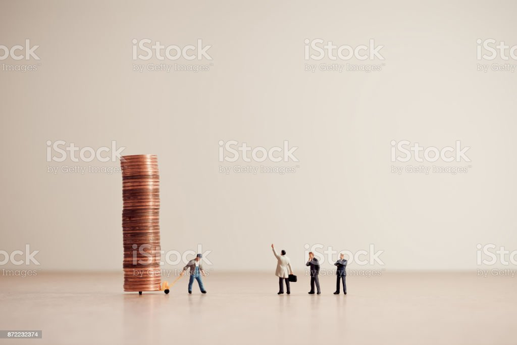 Delivery of funds. Business and money concept stock photo