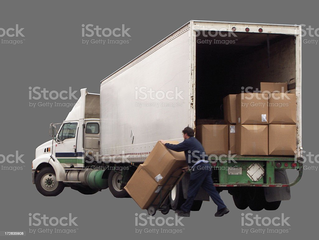 Delivery (w/ path) royalty-free stock photo