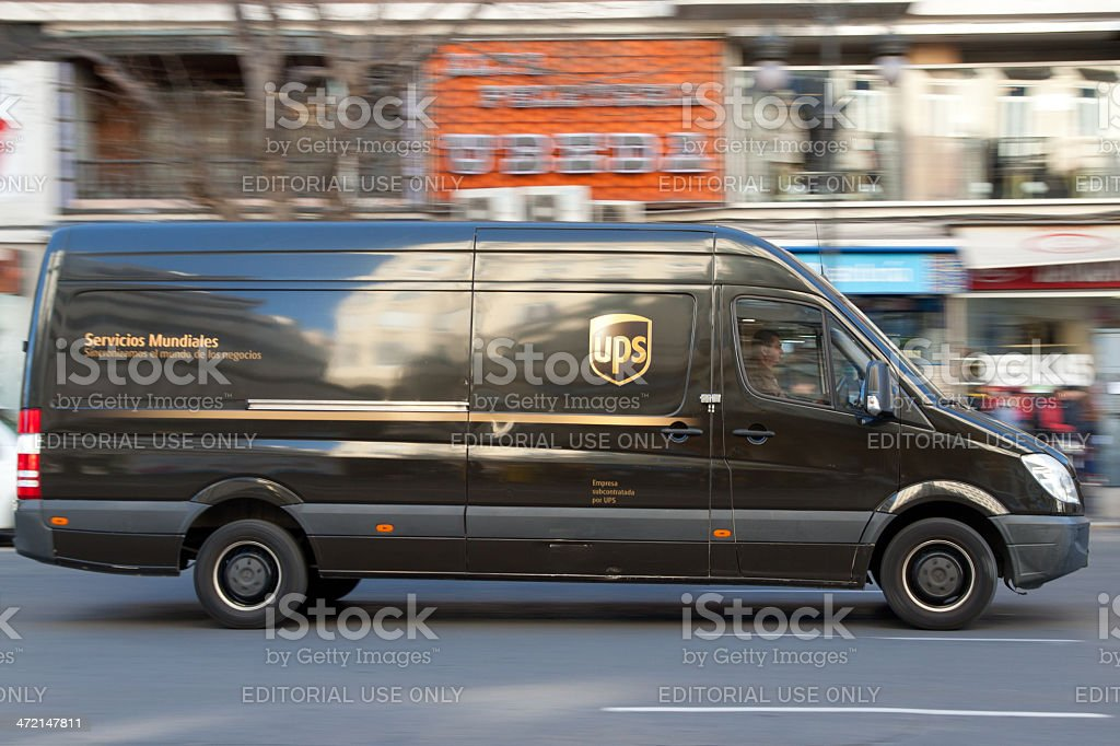 UPS Delivery stock photo