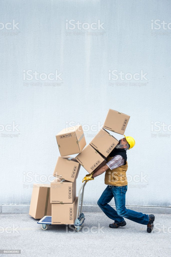 De entrega - foto de stock