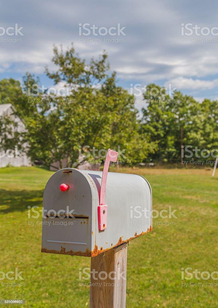 Delivery post box in Canada stock photo